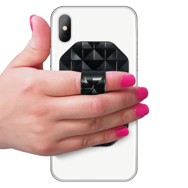 Geometric Collection - Shiny Black - Front