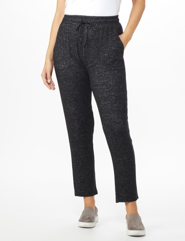 DB Sunday Hacci Jogger Pant - Black heather - Front