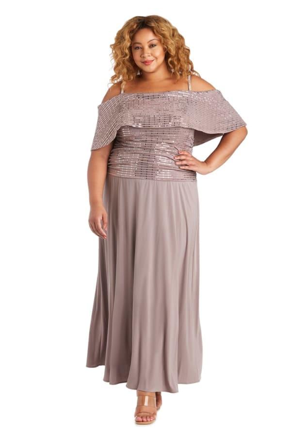 Plus Banded Cold Shoulder Strap Detail Ruched Dress