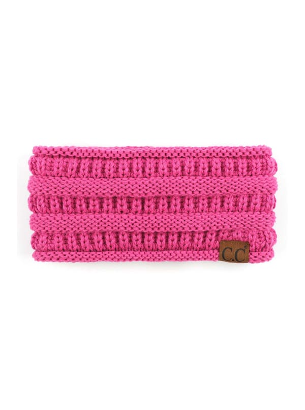 CC® Lined Pony Head Band - Azalea - Front
