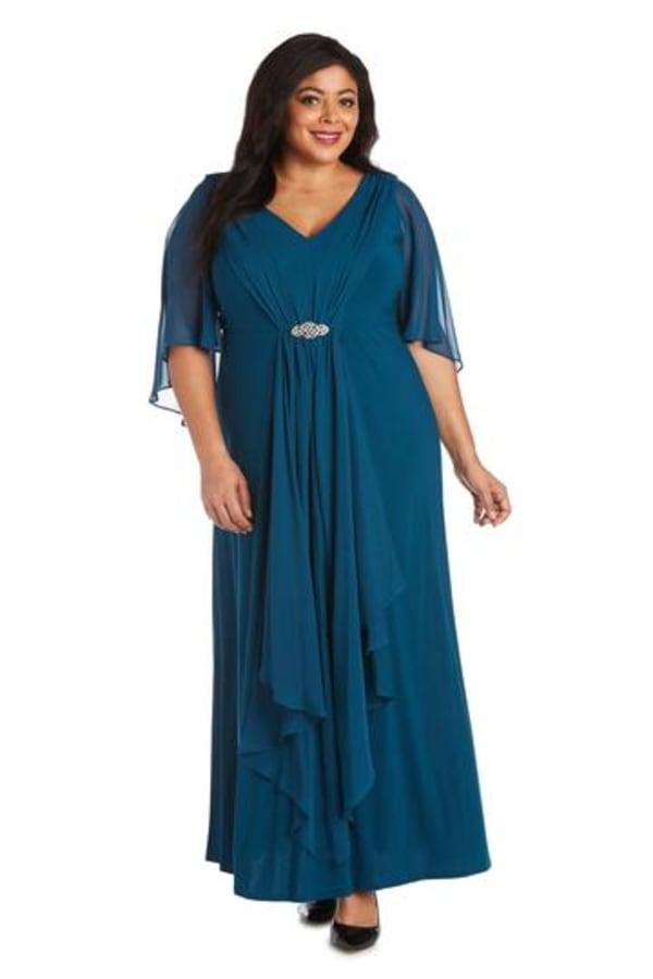 Plus Long Matte Chiffon Dress