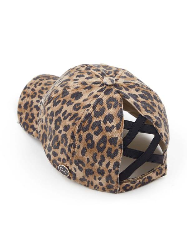 CC® Mask Compatible Criss Cross Cap - Baby Leopard - Front