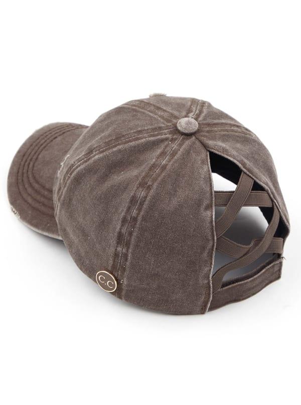 CC® Mask Compatible Criss Cross Cap - Brown - Front