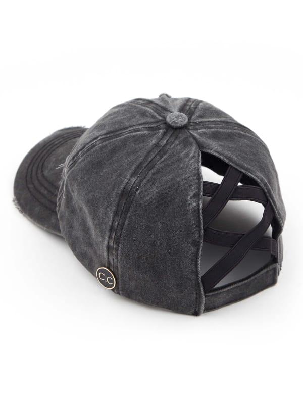 CC® Mask Compatible Criss Cross Cap - Black - Front