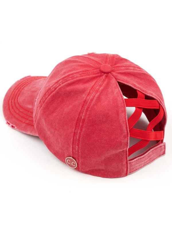 CC® Mask Compatible Criss Cross Cap - Red - Front