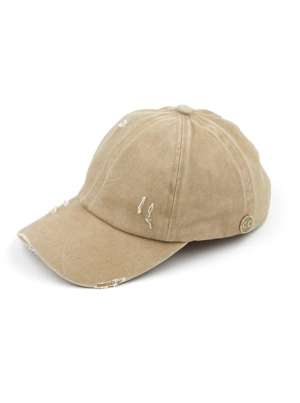CC® Mask Compatible Criss Cross Cap - Khaki - Front