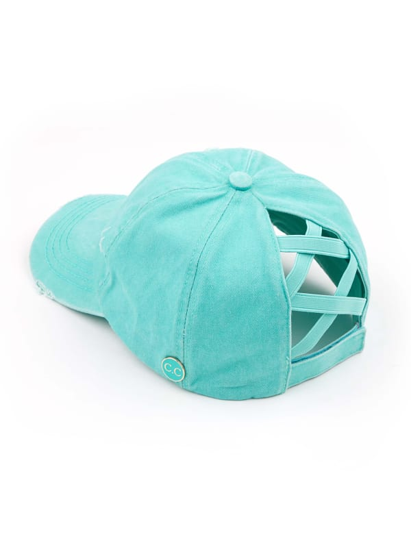CC® Mask Compatible Criss Cross Cap - Mint - Front