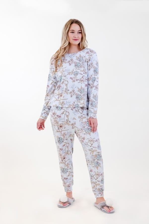 Spirit Jogger Pajama Set - Light Blue - Front