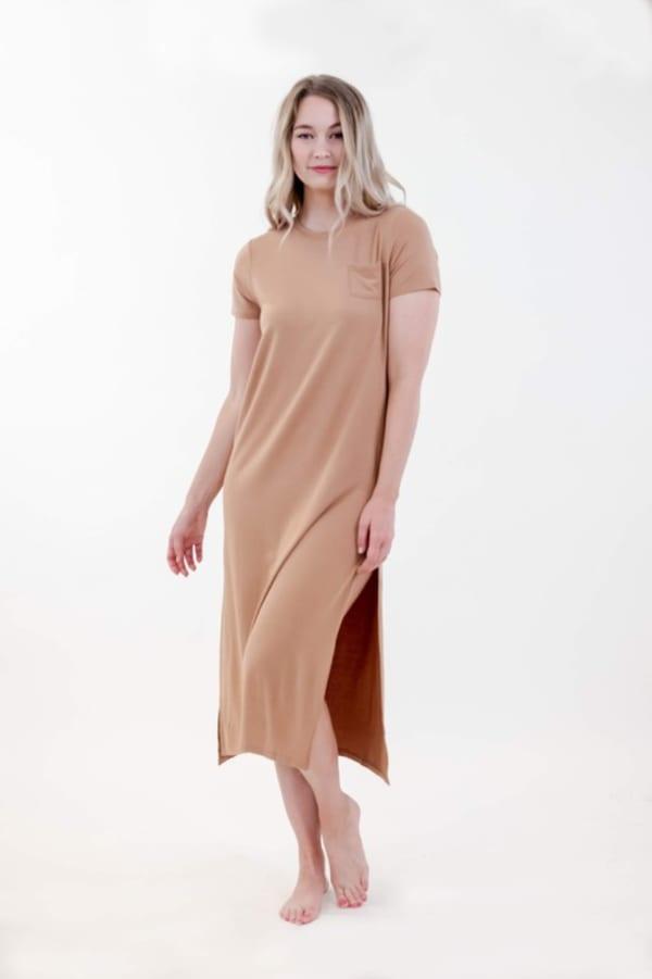 One Spirit Side Slit Long Dress
