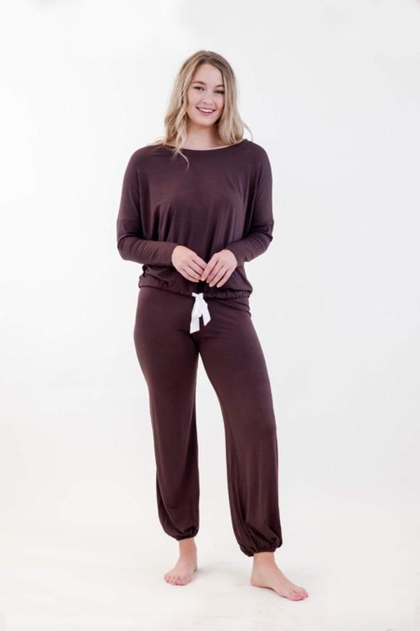 One Spirit Slouchy Pajama Set - Puce - Front