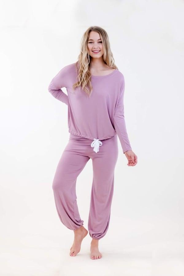 One Spirit Slouchy Pajama Set - Dawn Pink - Front