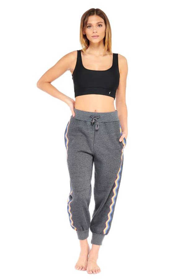Rainbow Jogger - Charcoal - Front