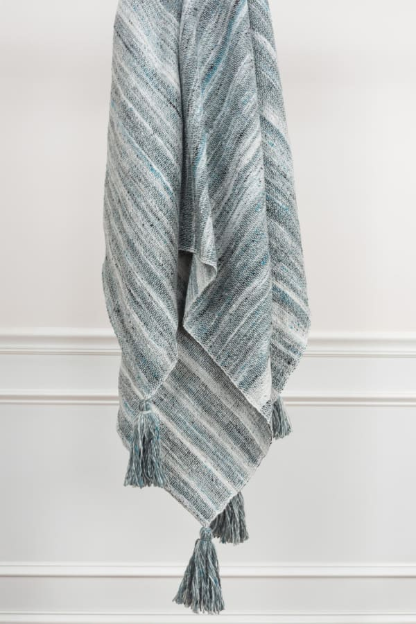 """Multicolor 100% Recycled Polyester Solid Stripe 50""""x60"""" Throw"""