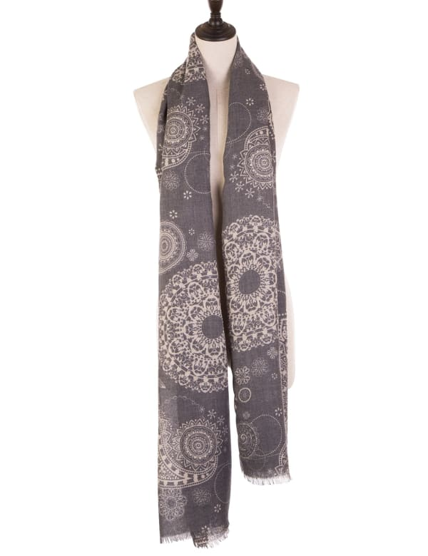 Paisley Print Scarf with Fringes