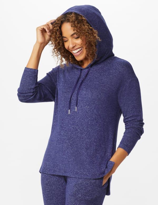 DB Sunday Sweater Knit Hacci Hoodie - Navy - Front