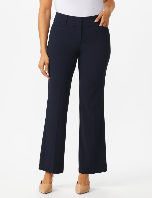 Roz & Ali  Secret Agent  Trouser With Cateye  Pocket  & Zipper -Navy - Front