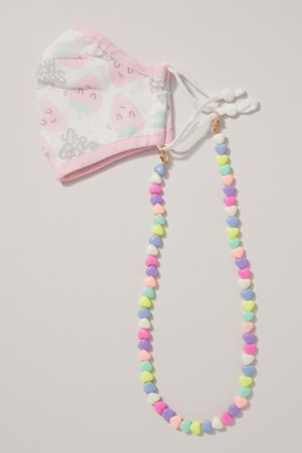 Heart Shape Beads Mask Chain For Kids