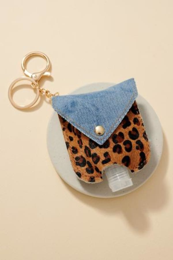 Animal Print Tie Dye Jean Mini Sanitizer Holder