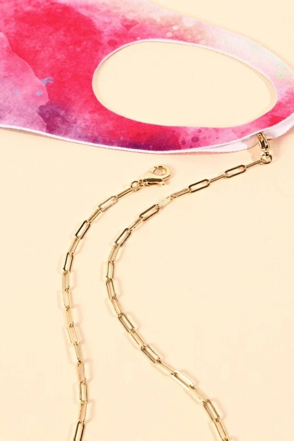 Gold Plated Gauge Wire Chain Mask Lanyards