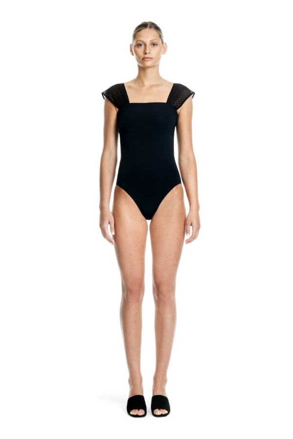 Dotty One Piece - Black - Front