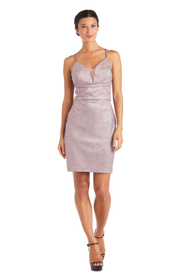 Morgan & Co. Short Shimmer Dress