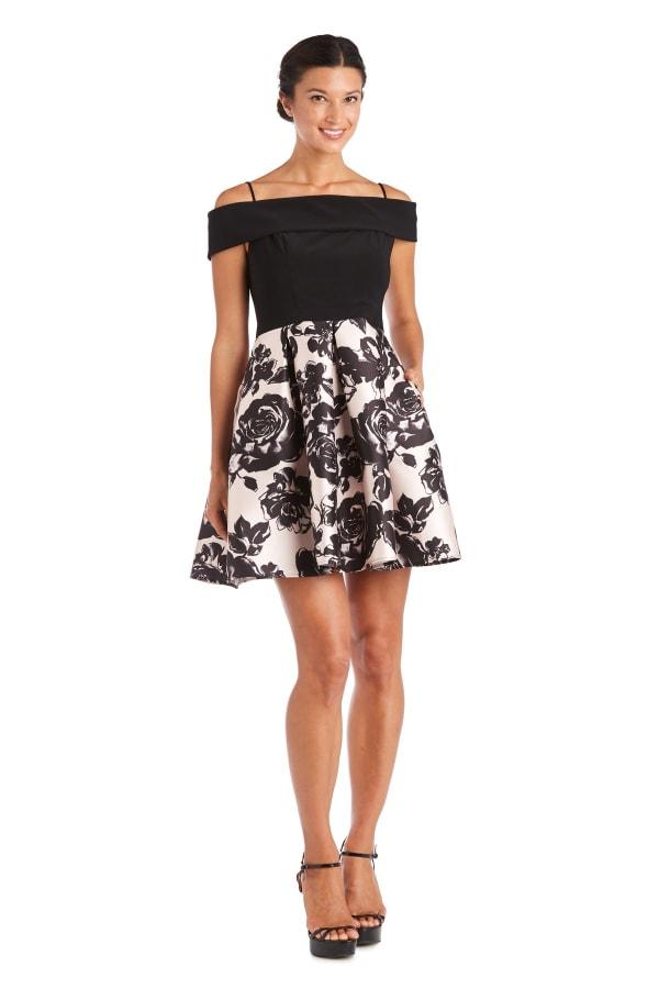 Morgan & Co. Off the Shoulder Skater Dress