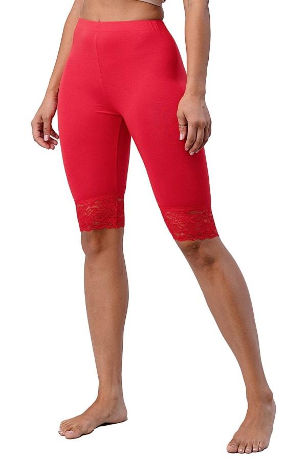 Lace Hem Biker Shorts