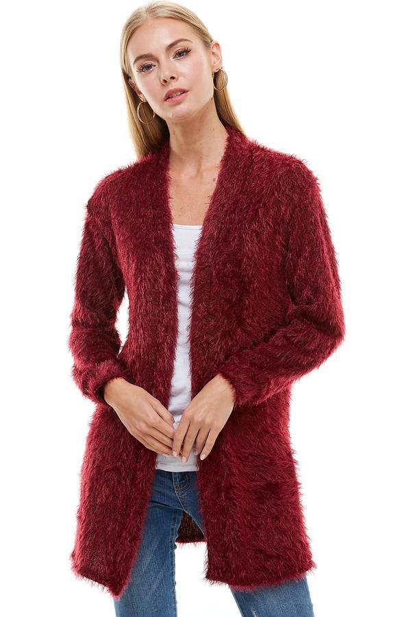 Shaggy Fur Cardigan