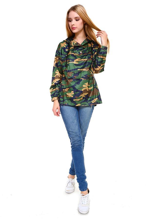 Camouflage Hooded Windbreaker Jacket