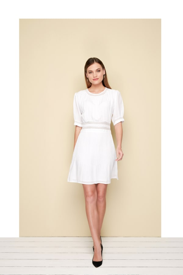 Lire Mini Dress - White - Front