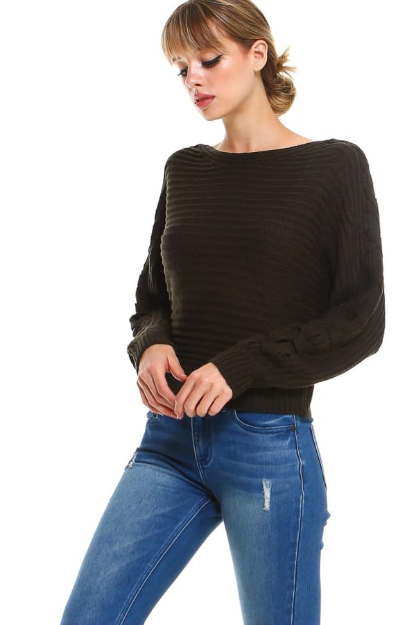 Lace Up Sleeves Sweater Top