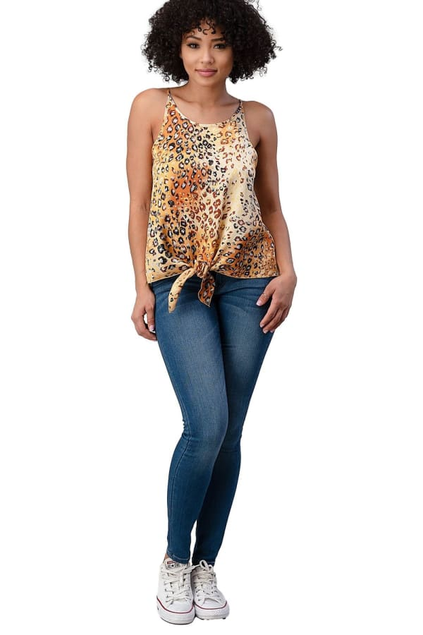 Satin Leopard Cami Top