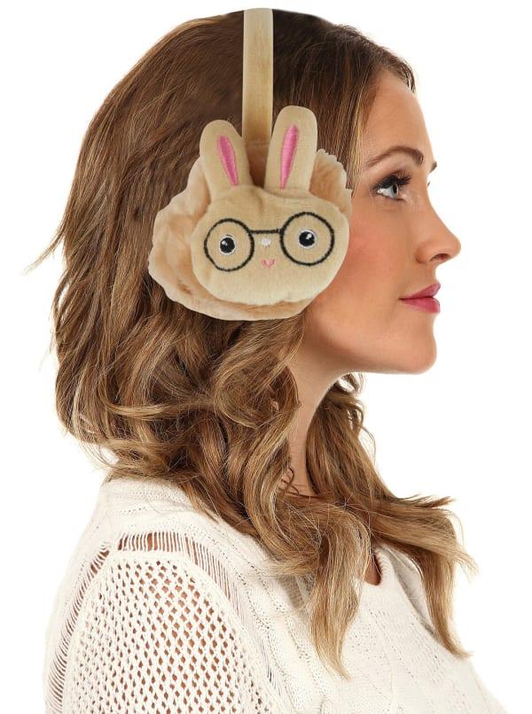 Animal Designed Earmuffs - Caramel - Front