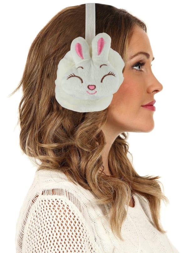 Animal Designed Earmuffs - White - Front