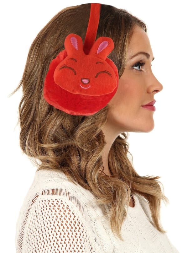 Animal Designed Earmuffs - Red - Front