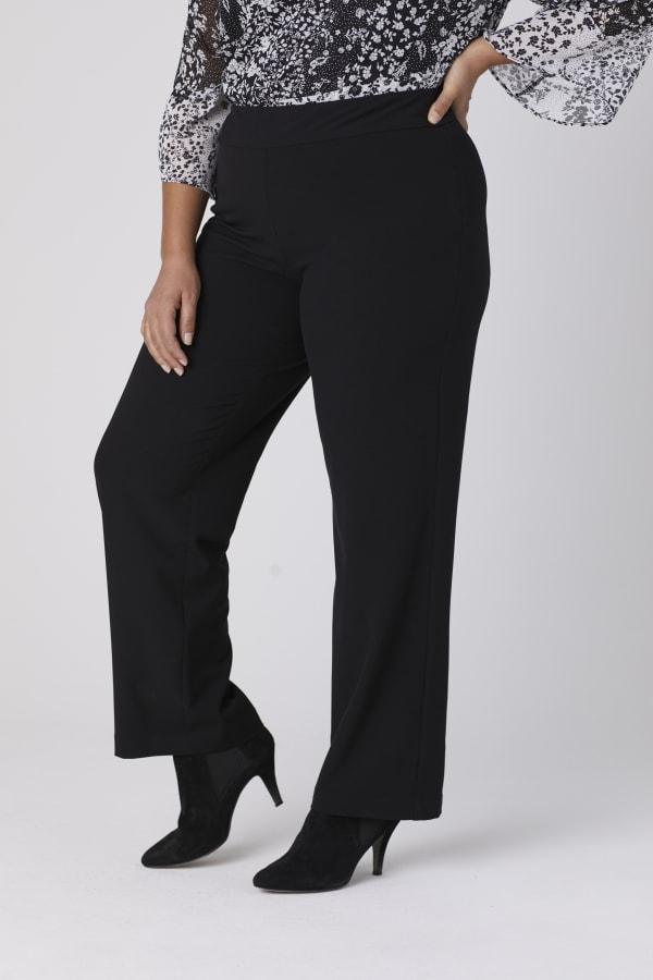 Roz & Ali Secret Agent Tummy Control Pull On Pants - Average Length-Plus