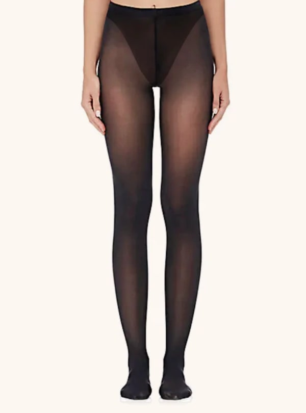Sheer Tight W / Control & 3D Run Resist Socks - Black - Front