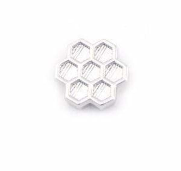 Beehive Silver Ionic Plating Charm