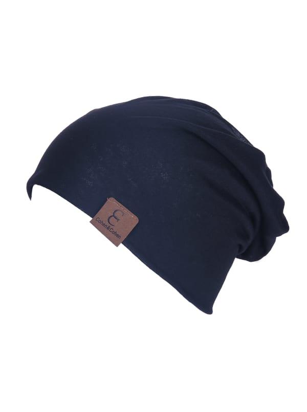 Unisex Slouch CC Chic Winter Beanie - Black - Front