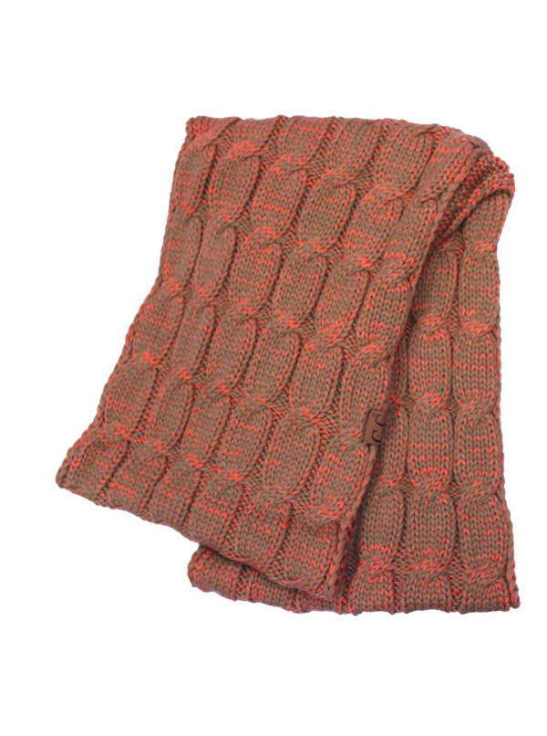 C.C® Two-Tone Multi Color Scarf - Brown / Copper - Front