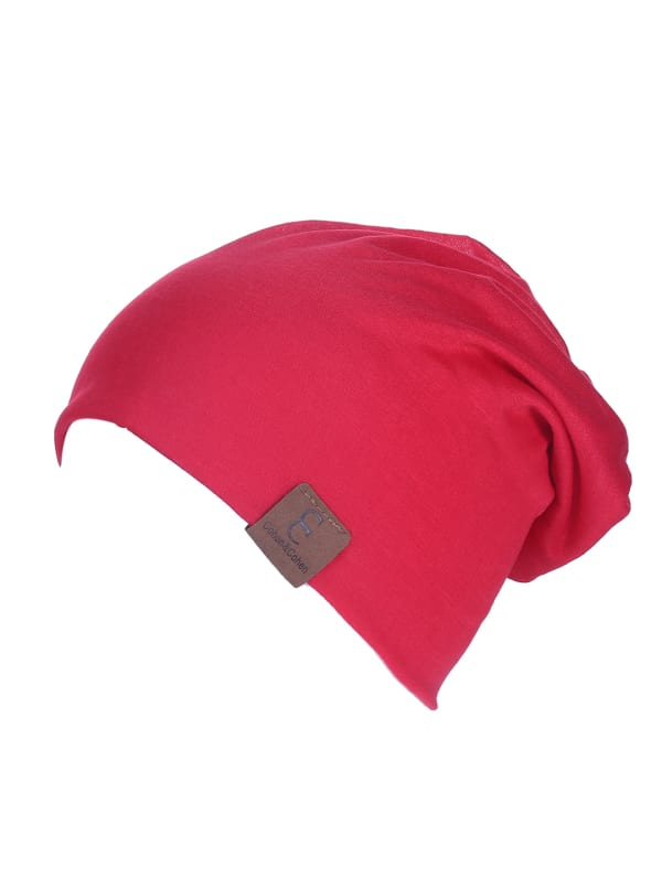 Unisex Slouch CC Chic Winter Beanie - Red - Front