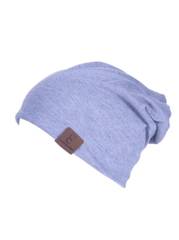 Unisex Slouch CC Chic Winter Beanie - Sky Blue - Front