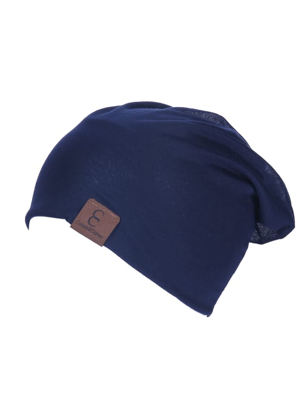 Unisex Slouch CC Chic Winter Beanie - Navy Blue - Front