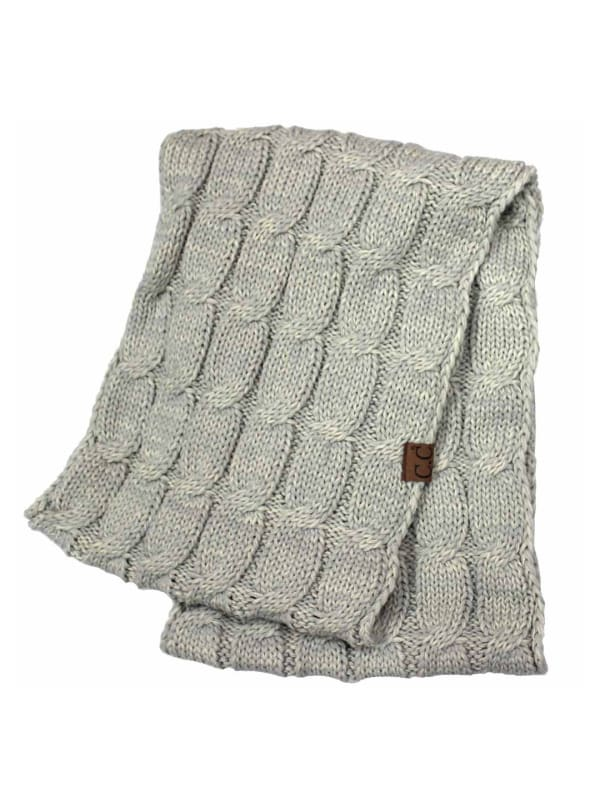 C.C® Two-Tone Multi Color Scarf - Silver - Front