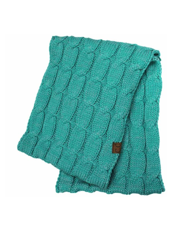 C.C® Two-Tone Multi Color Scarf - Cyan - Front