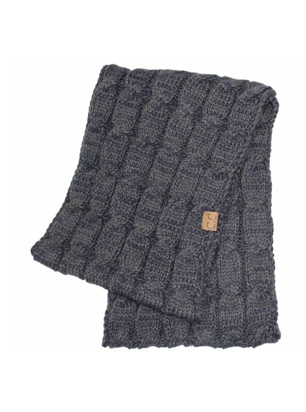 C.C® Two-Tone Multi Color Scarf - Grey - Front