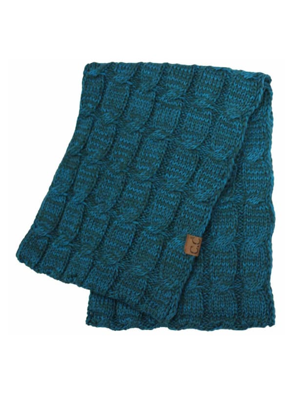 C.C® Two-Tone Multi Color Scarf - Grey Blue - Front