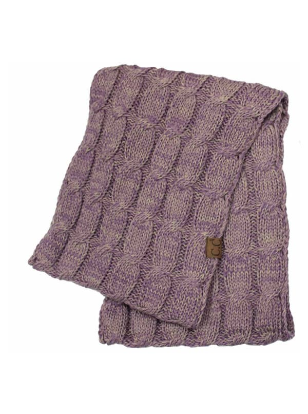 C.C® Two-Tone Multi Color Scarf - Lavender - Front