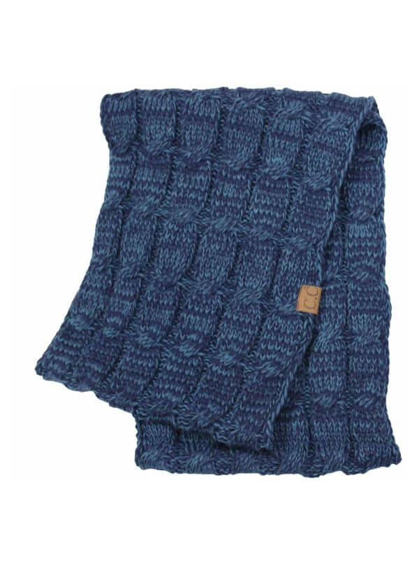 C.C® Two-Tone Multi Color Scarf - Navy - Front