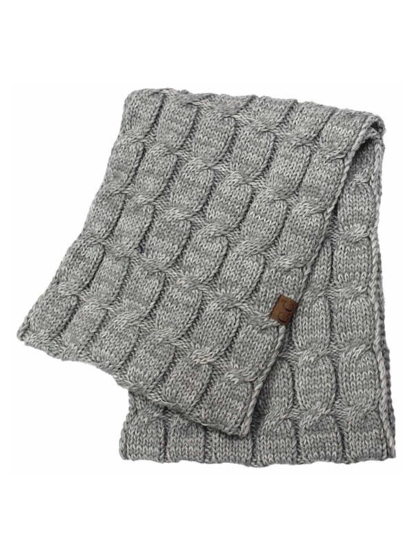 C.C® Two-Tone Multi Color Scarf - Light Grey - Front